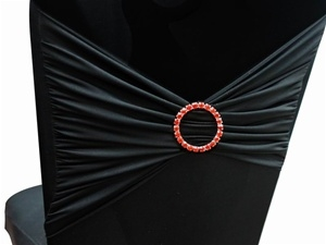 Diamond Buckle (for chair sash) - Red Circle