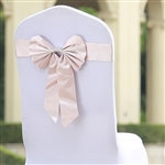 Blush Satin & Faux Leather Reversible Chair Sashes with Buckle - 5 Pack