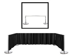 "Satin / Dupioni Backdrop With 3"" Top Pocket 72"" W X 3FT Height"