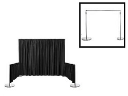 "Satin / Dupioni Backdrop With 3"" Top Pocket 72"" W X 6FT Height"