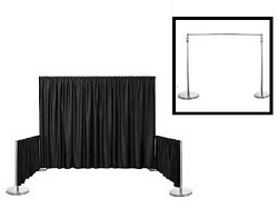 "Satin / Dupioni Backdrop With 3"" Top Pocket 72"" W X 8FT Height"