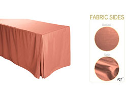 "5FT Satin / Dupioni Rectangular Fitted Tablecloth 30""x60""x29"" with Inverted Pleates"