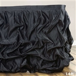 Black Chambury Casa Chic Miteux Lamour Table Skirt - 14ft