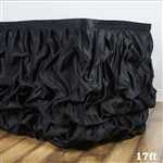 Black Chambury Casa Chic Miteux Lamour Table Skirt - 17ft