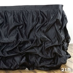 Black Chambury Casa Chic Miteux Lamour Table Skirt - 21ft