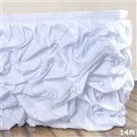 White Chambury Casa Chic Miteux Lamour Table Skirt - 14ft