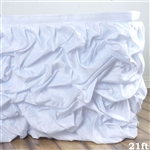 White Chambury Casa Chic Miteux Lamour Table Skirt - 21ft