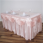 Blush Double Drape Table Skirt / Satin - 17ft