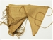 All Natural Jute Burlap Triangle Pennant 12 pcs - Natural
