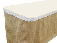 Jute Burlap 17ft Natural Table Skirt