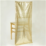 Duchess Sequin Chair Slipcover - Champagne