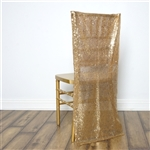 Duchess Sequin Chair Slipcover - Gold