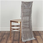 Duchess Sequin Chair Slipcover - Silver