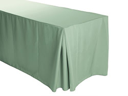 "4FT Premium Spun Polyester Rectangular Fitted Tablecloth 30""x48""x29"" with Inverted Pleates"