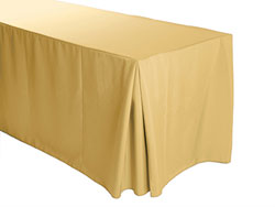 "5FT Premium Spun Polyester Rectangular Fitted Tablecloth 30""x60""x29"" with Inverted Pleates"