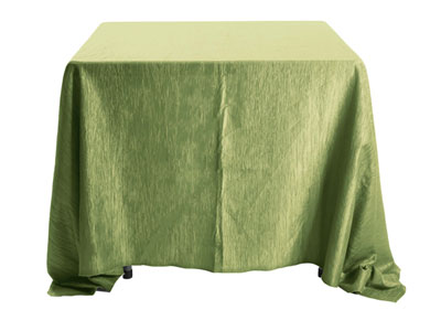 "120"" x 120"" Square Crinkle Taffeta Tablecloth"