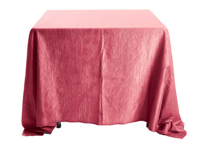 "132"" x 132"" Square Crinkle Taffeta Tablecloth"