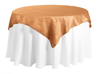 "54"" x 54"" Square Crinkle Taffeta Tablecloth"