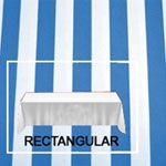 "Rental Premium Stripe 60"" x 120"" Rectangular Tablecloth - Square Corners"