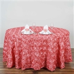 "120"" Round (Grandiose Rosette) Tablecloth - Rose Quartz"