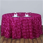 "120"" Round (Grandiose Rosette) Tablecloth - Fushia"