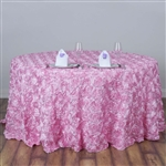 "120"" Round (Grandiose Rosette) Tablecloth - Pink"