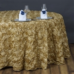 "132"" Round (Grandiose Rosette) Tablecloth - Champagne"