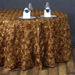 "132"" Round (Grandiose Rosette) Tablecloth - Gold"