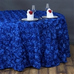 "132"" Round (Grandiose Rosette) Tablecloth - Royal Blue"