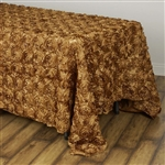 "90x132"" Rectangle (Grandiose Rosette) Tablecloth - Gold"