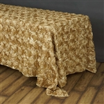 "90""x156"" Rectangle (Grandiose Rosette) Tablecloth - Champagne"