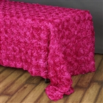 "90""x156"" Rectangle (Grandiose Rosette) Tablecloth - Fushia"