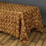 "90""x156"" Rectangle (Grandiose Rosette) Tablecloth - Gold"