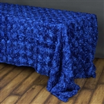 "90""x156"" Rectangle (Grandiose Rosette) Tablecloth - Royal Blue"