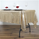 "60x102"" Rectangle (Duchess Sequin) Tablecloth - Champagne"