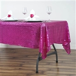 "60x102"" Rectangle (Duchess Sequin) Tablecloth - Fushia"