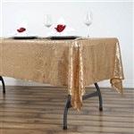 "60x102"" Rectangle (Duchess Sequin) Tablecloth - Gold"