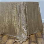 "60x126"" Rectangle (Duchess Sequin) Tablecloth - Champagne"