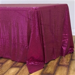 "60x126"" Rectangle (Duchess Sequin) Tablecloth - Fushia"