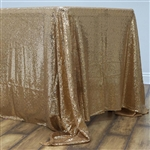 "60x126"" Rectangle (Duchess Sequin) Tablecloth - Gold"