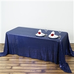 "90x132"" Rectangle (Duchess Sequin) Tablecloth - Navy"