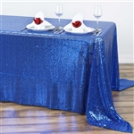 "90x132"" Rectangle (Duchess Sequin) Tablecloth - Royal"