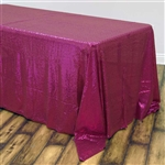 "90x132"" Rectangle (Duchess Sequin) Tablecloth - Fushia"