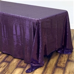 "90x132"" Rectangle (Duchess Sequin) Tablecloth - Purple"