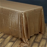 "90x156"" Rectangle (Duchess Sequin) Tablecloth - Gold"