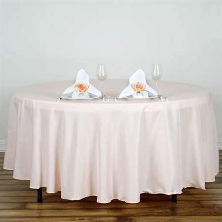 "Econoline Blush 108"" Round Tablecloth"