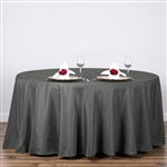 "Econoline Charcoal Grey 120"" Round Tablecloth"