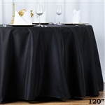 "120"" Seamless Value Plus Polyester Round Tablecloth - Black"