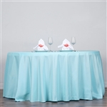 "Econoline Polyester Round Tablecloth 120"" - Blue"