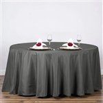 "Econoline Charcoal Grey 132"" Round Tablecloth"
